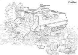 Захват местности - Военные распечатать раскраску на А4