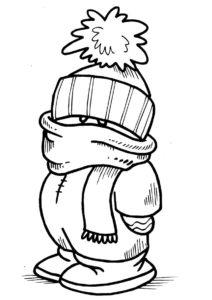 Раскраска Зимний наряд распечатать и скачать - Зима