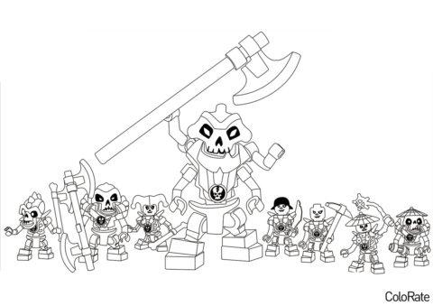 Злобные скелеты (LEGO Ниндзяго) раскраска для печати и загрузки