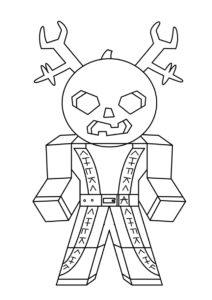 Злобный персонаж Роблокс распечатать раскраску - Роблокс