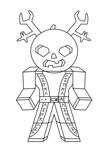 Раскраска Злобный персонаж Роблокс распечатать | Роблокс